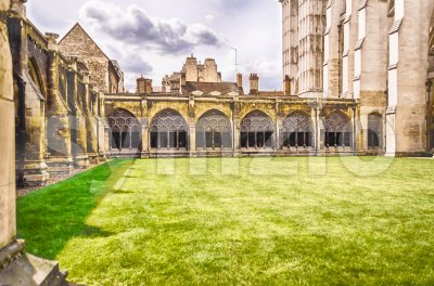 Cloister of the Westminster Abbey, London, UK Stock Photo