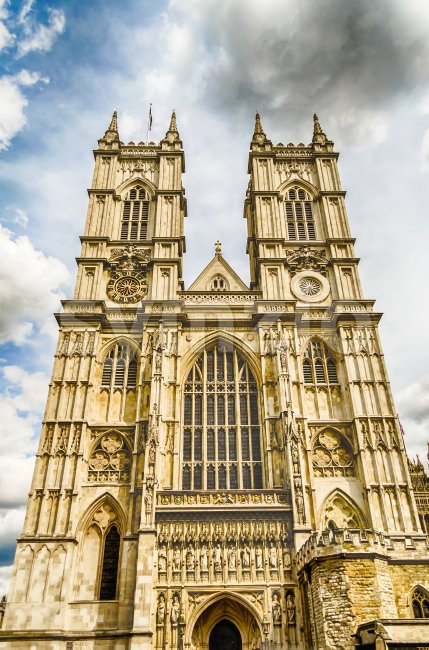 Facade of the Westminster Abbey, London, UK Stock Photo