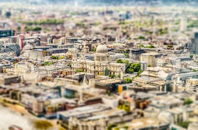 Aerial view of St. Paul Cathedral, London, UK Stock Photo