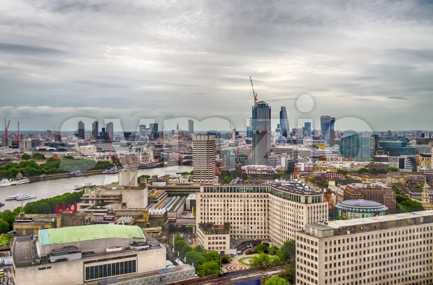 Aerial view of central London, UK Stock Photo