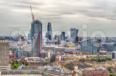 London City skyline, UK Stock Photo