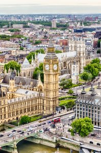 Aerial view of the Big Ben, London, UK Stock Photo