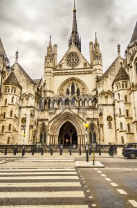 The Royal Courts of Justice in London, UK Stock Photo