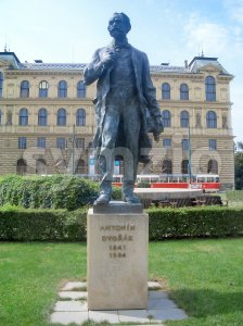 Antonin Dvorak Monument in Prague, Czech Republic Stock Photo
