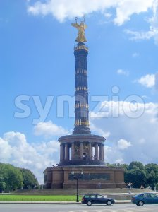 Victory Column, iconic landmark in Berlin, Germany Stock Photo