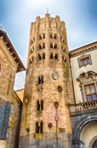 Medieval Tower in Orvieto, Italy Stock Photo