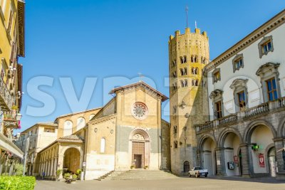 Medieval Church of St. Andrea, Orvieto, Italy Stock Photo