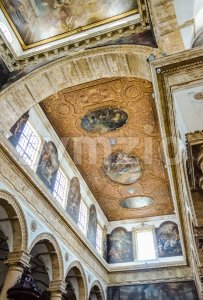 Interiors of the Sant'Agata Cathedral in Gallipoli, Italy Stock Photo