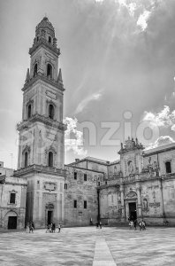 Cathedral of Lecce, masterpiece of baroque art in Salento, Italy Stock Photo