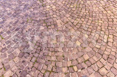 Sampietrini pavement in Rome, may be used as background Stock Photo