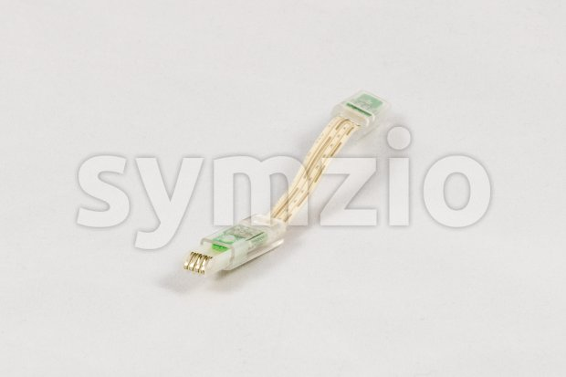 Electronic connector for a led light system Stock Photo
