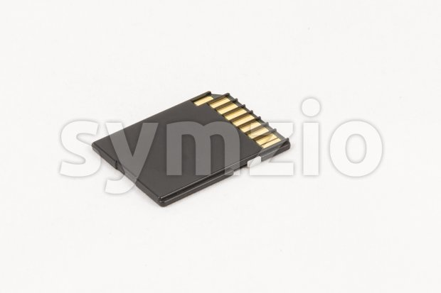 Black unbranded memory SD card Stock Photo