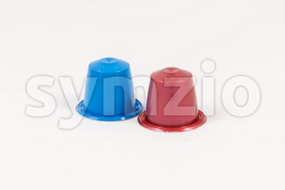 Modern unbranded colorful capsules for espresso coffee machine Stock Photo