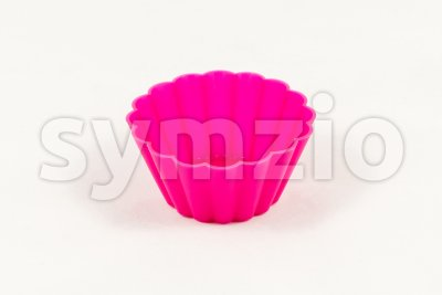 Pink silicone cake cups Stock Photo