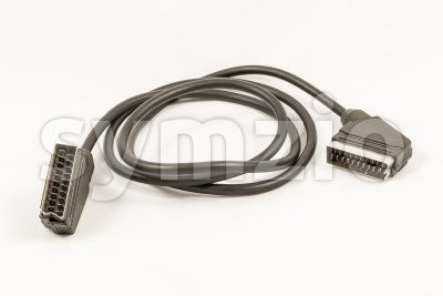 Scart AV connector cable Stock Photo