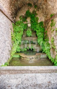 Inside Villa d'Este, Tivoli, Italy Stock Photo