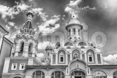 Kazan Cathedral in Red Square, Moscow, Russia Stock Photo