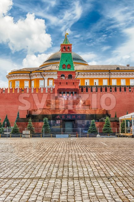Lenin's Mausoleum, iconic landmark in Red Square, Moscow, Russia Stock Photo