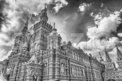 The State Historical Museum on Red Square, Moscow, Russia Stock Photo