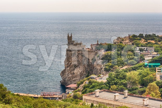 Swallow's nest, scenic castle over the Black Sea, Yalta, Crimea Stock Photo
