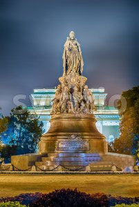 Monument to Queen Ekaterina and Her favourites, St. Petersburg, Russia Stock Photo