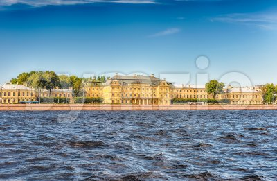 Facade of the Menshikov Palace, St. Petersburg, Russia Stock Photo