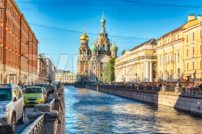 Church of the Savior on Spilled Blood, St. Petersburg, Russia Stock Photo