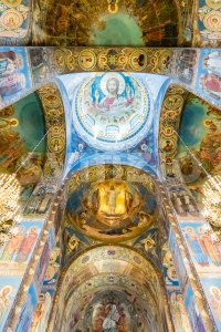 Church of the Savior on Blood, interior, St. Petersburg, Russia Stock Photo