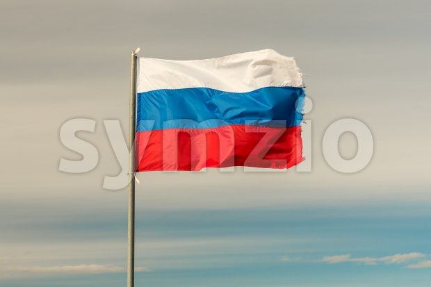Flag of Russian Federation Stock Photo