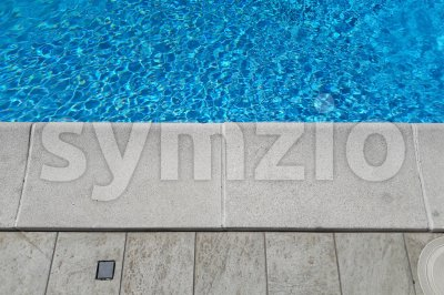 Detail of a beautiful swimming pool edge Stock Photo