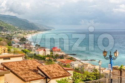 Aerial view of coastline in Calabria, Italy Stock Photo