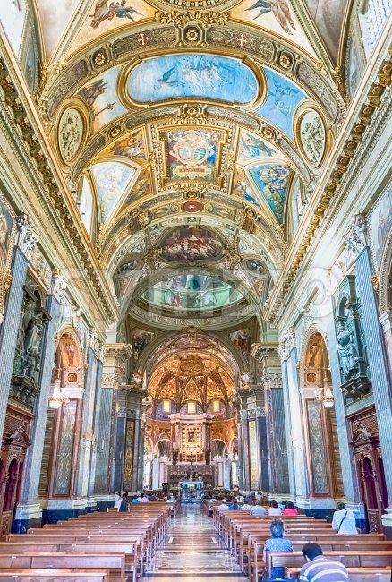 Inside the Church of Our Lady of Rosary, Pompei, Italy Stock Photo