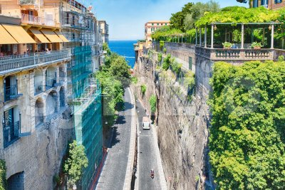 Scenic aerial view of Sorrento, Italy Stock Photo