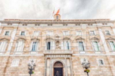 Defocused background, Palau de la Generalitat de Catalunya, Barcelona, Spain Stock Photo