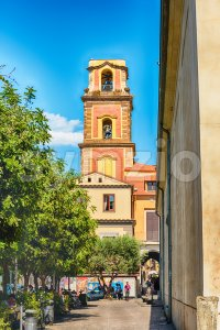 Tower bell of Sorrento Cathedral, Italy Stock Photo