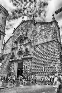 Church of Betlem on La Rambla, Barcelona, Catalonia, Spain Stock Photo