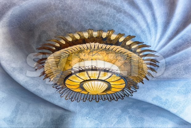 Detail of the ceiling in Casa Batllo, Barcelona, Catalonia, Spain Stock Photo