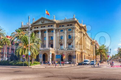 Building of the military government (Gobierno militar), Barcelona, Catalonia, Spain Stock Photo