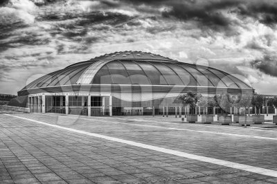 Palau Sant Jordi, sporting arena of Montjuic, Barcelona, Catalonia, Spain Stock Photo