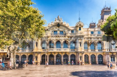 Port authority building in Barcelona, Catalonia, Spain Stock Photo