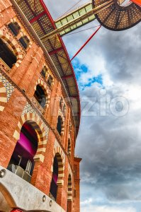 Former Placa de toros de las Arenas, Barcelona, Catalonia, Spain Stock Photo