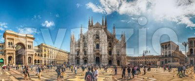The gothic Milan Cathedral, aka Duomo di Milano, Italy Stock Photo