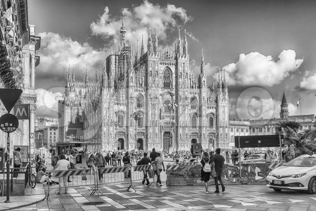 MILAN - SEPTEMBER 11: The gothic cathedral, aka Duomo, iconic landmark in Milan, Italy, on September 11, 2017.
