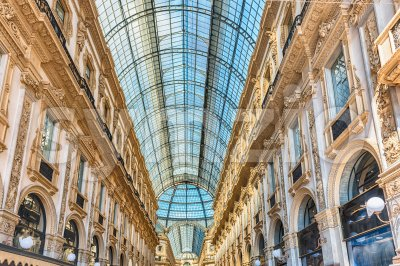 Galleria Vittorio Emanuele II, iconic shopping center in Milan, Italy Stock Photo
