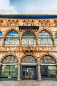 Loggia degli Osii, historical building in Piazza Mercanti, Milan, Italy Stock Photo